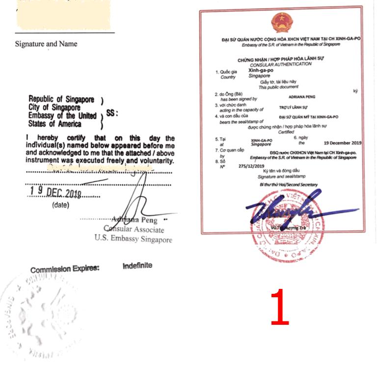 Legalization stamp Vietnam police check