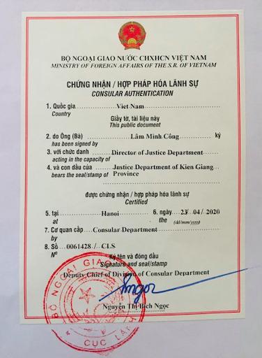 legalization stamp vietnam